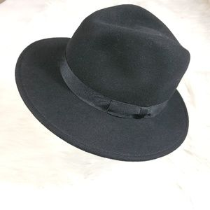 100% wool Scala Vintage men fedora Hat with ribbon